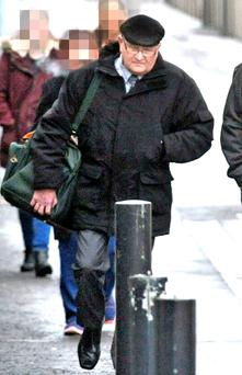 Brian Jackson outside Belfast Crown Court yesterday
