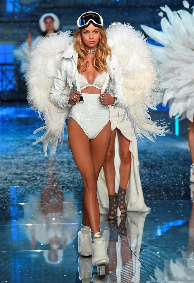 New Victoria's Secret Angel Stella Maxwell on the catwalk