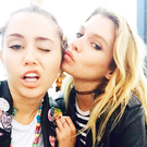 Good friends: Model Stella with pop star Miley Cyrus