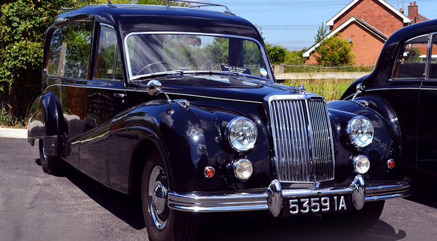 The 1950s Armstrong Siddeley hearse