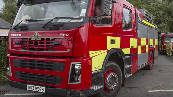 The Northern Ireland Fire and Rescue Service said the building is now safe to demolish