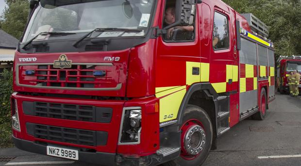 Demolition work has begun at a Londonderry recycling plant where a major fire broke out