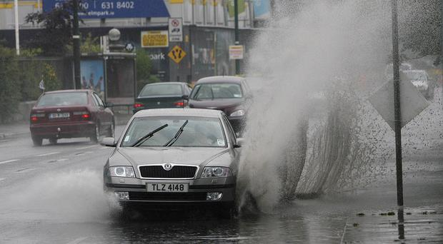 The Police Service of Northern Ireland and the Garda have urged road users to exercise extra caution due to surface water