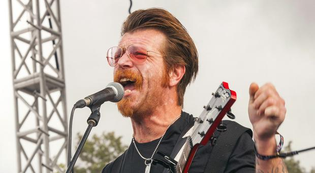 Jesse Hughes, of Eagles Of Death Metal, who were due to perform at the Bataclan concert hall in Paris before Friday's terror attacks (AP)