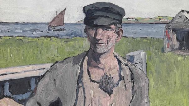 Jack Butler Yeats painting The Boat Builder is part of the Christie's Modern British & Irish Art sale on November 25 and 26 (Christie's/PA)