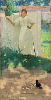 Sir John Lavery's evocative The Maid Was In The Garden Hanging Out The Clothes