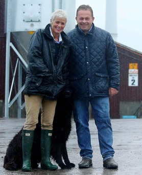 Carolyn Crooks and Jeremy Hobson at their chicken farm in Eglish, Co Tyrone