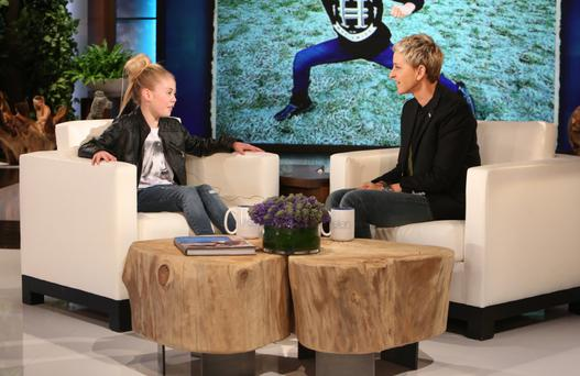 Jesse Jane being interviewed by US star Ellen DeGeneres