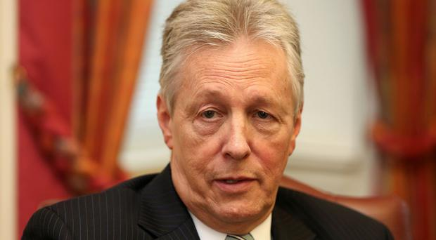 Northern Ireland First Minister Peter Robinson speaks about his decision to step down at Stormont Castle.