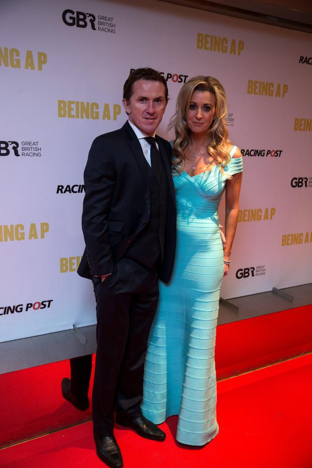 Tony McCoy with wife Chanelle at the premiere