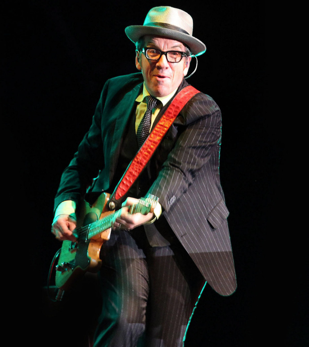 Elvis Costello on stage in Derry in 2013, his first gig in Northern Ireland in 29 years