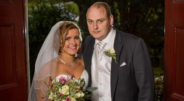 David Smith and Katy Harris on their dream wedding day