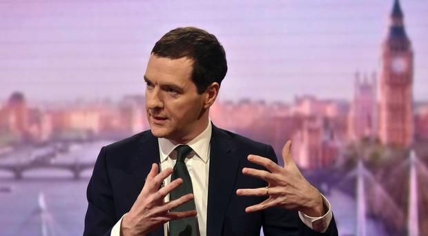 Chancellor George Osborne appears on the Andrew Marr Show (BBC/PA)