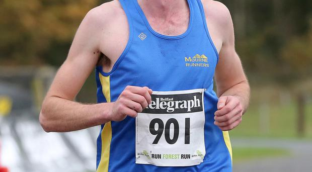 The men's race winner, William McKee of Newry