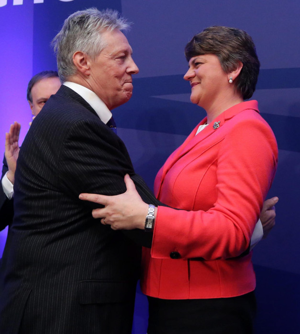 Peter Robinson with Arlene Foster