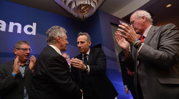 Peter Robinson with Ian Paisley Jnr