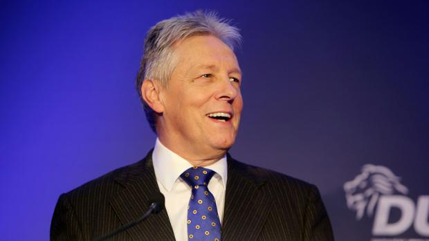 Northern Ireland's First Minister Peter Robinson got a round of applause after his last question time appearance