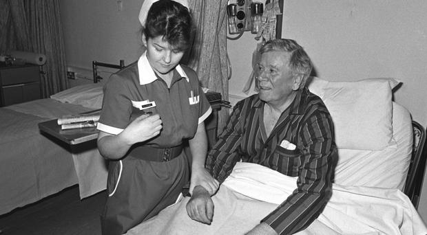 A nurse at the Royal Victoria Hospital in Belfast