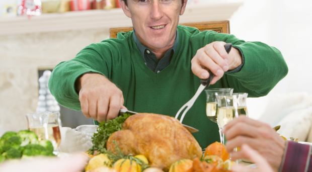 How AP might look tucking into his turkey