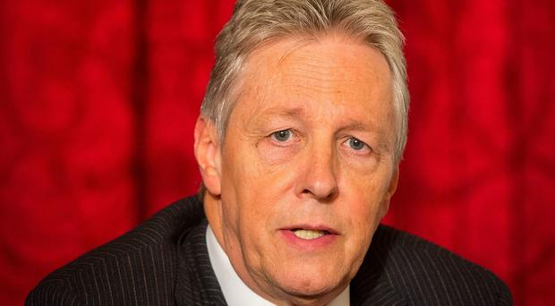First Minister of Northern Ireland Peter Robinson at the British-Irish Council press conference