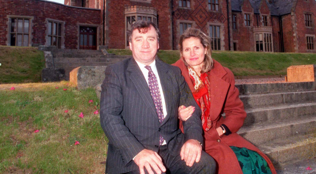 Lord Ballyedmond with his widow, Mary, who is now deputy chair of Norbrook, at their home in Rostrevor