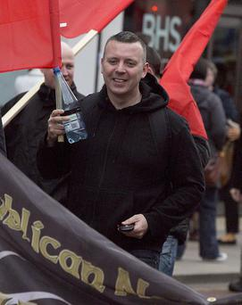 Ciaran Cunningham at an anti-austerity protest