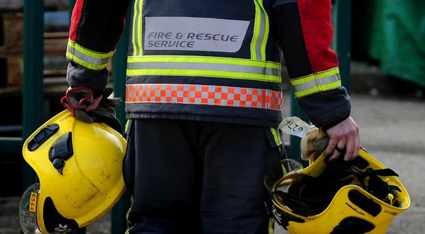 Firefighters responding to a blaze in Dungiven found the pipe bomb