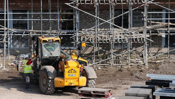 The report added that building firms cited a decline in employment levels, new business and output.