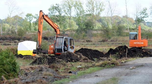 The bog in Oristown, Co Meath, where the remains of Disappeared victim Brendan Megraw were found