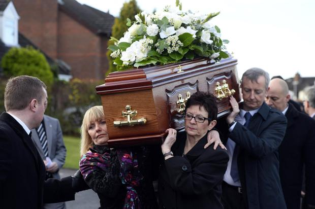 Mr Megraw's funeral in November 2014