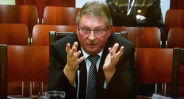 Sammy Wilson appears before the Nama inquiry yesterday