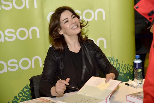 All smiles: chef Nigella Lawson signs her new book at Easons in Belfast city centre