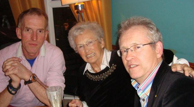 Reid and Peter Jack with their beloved mother Essie who died while holidaying in Tenerife
