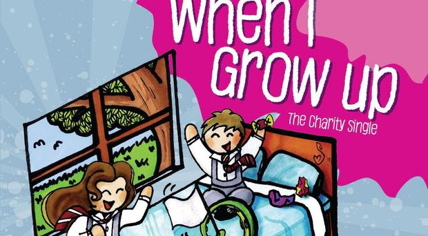 The cover of Shane Filan's new charity single, When I Grow Up, from the Grammy-nominated musical Matilda (Belfast Trust/PA)