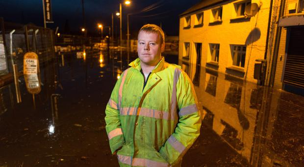 Ciaran McGlinchey was caught up in the Clady flooding