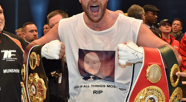 Controversial boxing champ Tyson Fury