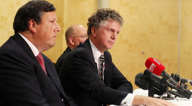 Jonathan Powell, former chief-of-staff to Prime Minister Tony Blair, at the recent Loyalist Communities Council launch in Belfast