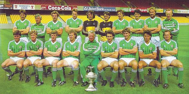 The Northern Ireland squad that won the 1984 British Championship