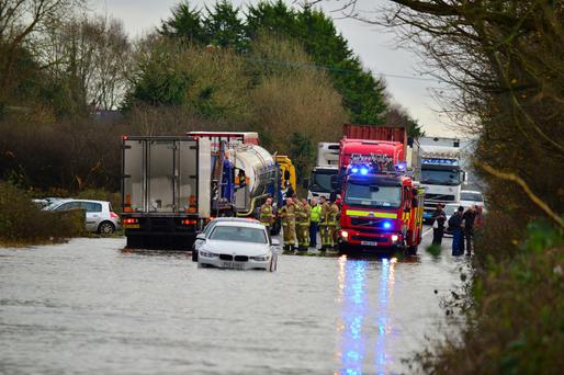 Stranded cars near Armagh