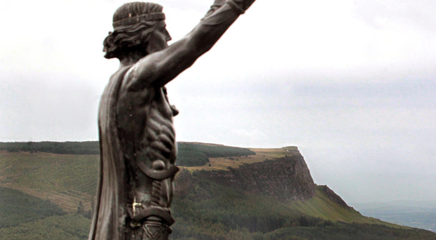 The sculpture of Manannan Mac Lir prior to its theft