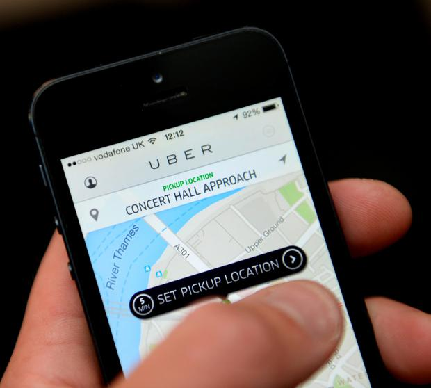 Uber, the new taxi-booking app for mobile phones now in use in Belfast