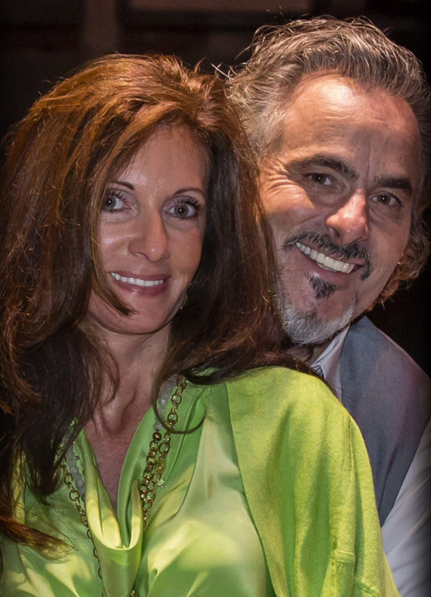 David Feherty credits his wife Anita for helping him beat his drink dependency. Above: How US audiences see Feherty, as an on course analyst. Top: Feherty with his first wife Caroline, and (top right) relaxing back at the clubhouse at Kiawah Island, South Carolina, in 2012