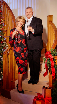 Eamonn Holmes with his wife Ruth Langsford at their new home