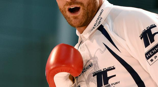 Hard hitting: Tyson Fury