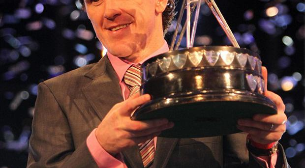 Tony McCoy with his Sports personality of the year award in 2010