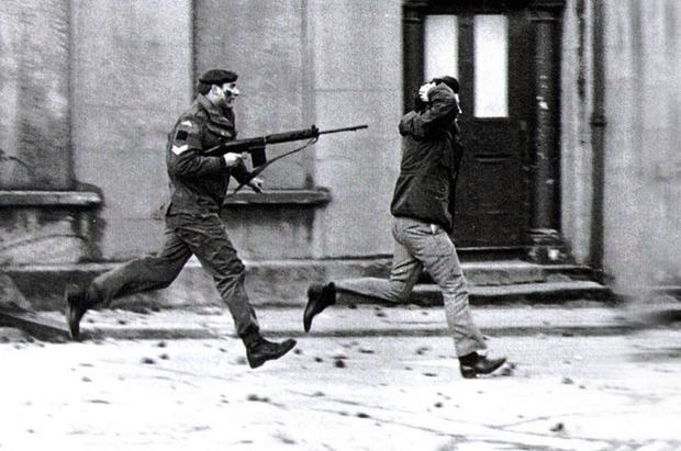 A youth is arrested on Bloody Sunday