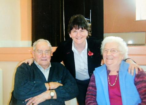 Arlene Foster with her parents
