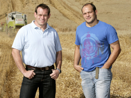 Brothers Simon and Rory Best at their family farm in Poyntzpass
