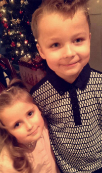Jackson and little sister Ally