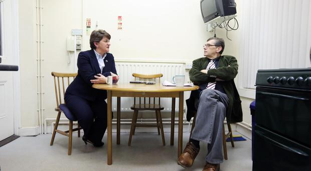 Liam Clarke interviewing Arlene Foster earlier this month